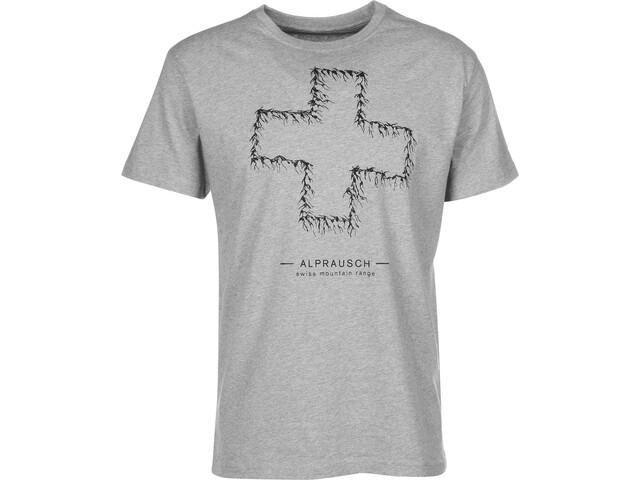 Alprausch Bergchetti T-shirt Heren, grey melange